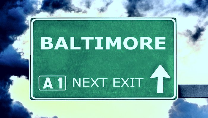 Baltimore road sign