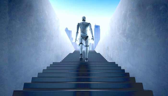 Roboter Treppe