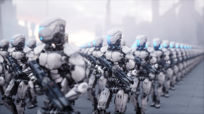 Roboter Armee
