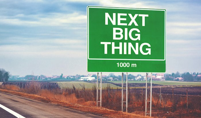 """Next Big Thing"" Schild"