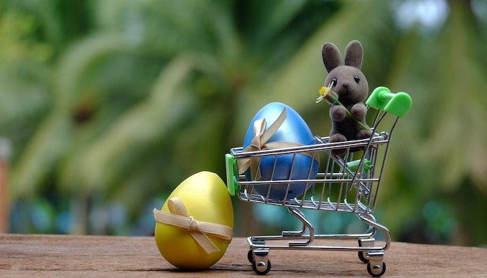 Osterhase Shopping