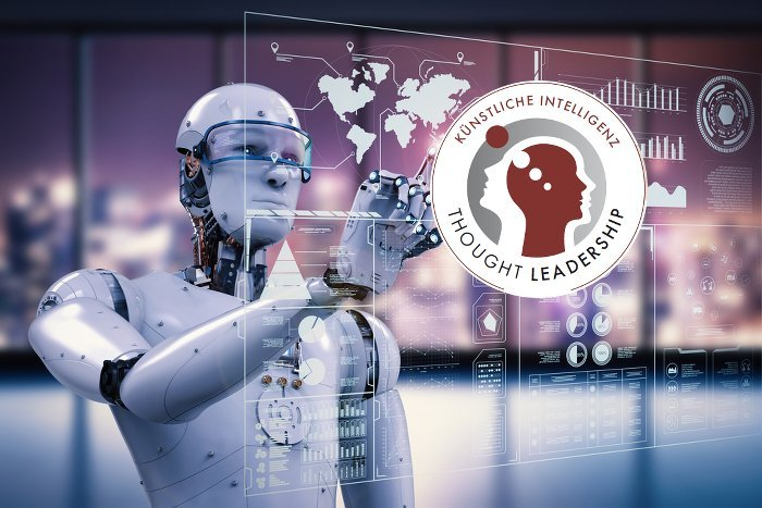 Roboter und Logo Thought Leadership KI