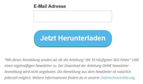 Newsletterformular
