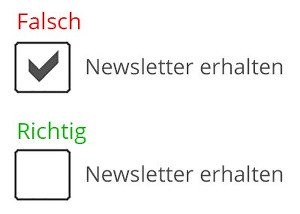 Newsletter Checkbox