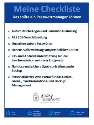 Checkliste PasswortManager
