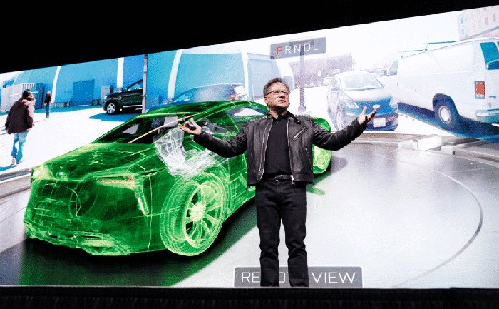 Nvidia-CEO Jensen Huang zeigt Hightech-Demonstration