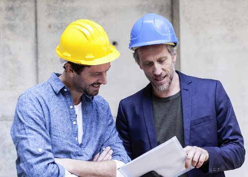 two men construction