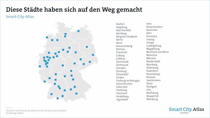 50 deutsche Städte sind auf dem Weg zur Smart City