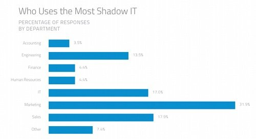 Who uses the most shadow IT