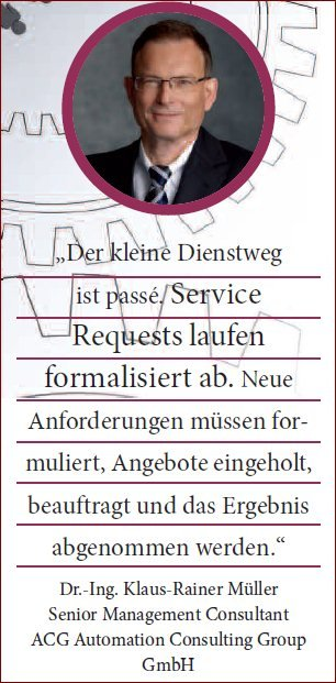 Dr.-Ing. Klaus-Rainer Müller, Senior Management Consultant ACG Automation Consulting Group GmbH